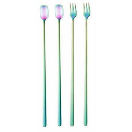 Conj. 4 Peças Aço Inox Long Drink Rainbow - Bon Gourmet