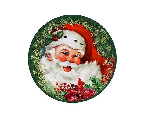 Prato Sobremesa em Cerâmica Natal 20cm - Alleanza