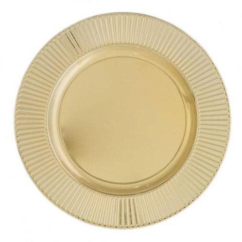 Sousplat de Plástico Dourado Bright 33cm