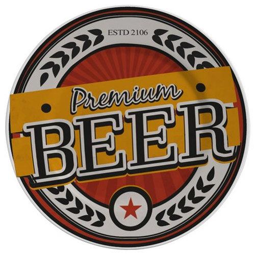 Prato Sobremesa em Cerâmica Beer Premium 19,5cm - Alleanza