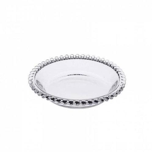 Prato de Pão Cristal Transparente de Bolinhas Pearl 14cm - Wolff