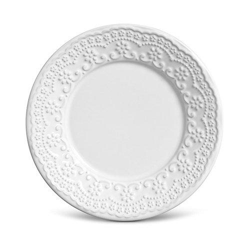 Prato Sobremesa Madeleine 20,5cm Branco - Porto Brasil