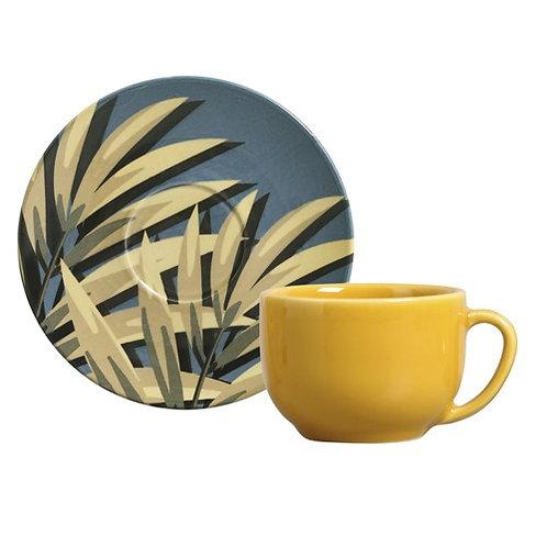 Xícara de Chá c/ Pires 260ml Coup Sumatra - Porto Brasil
