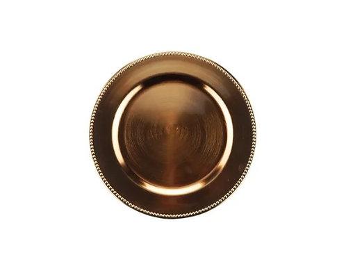 Sousplat de Chá Plástico Rose Gold 25cm