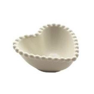 Bowl Cerâmica Coração Dots Branco - Tamanhos