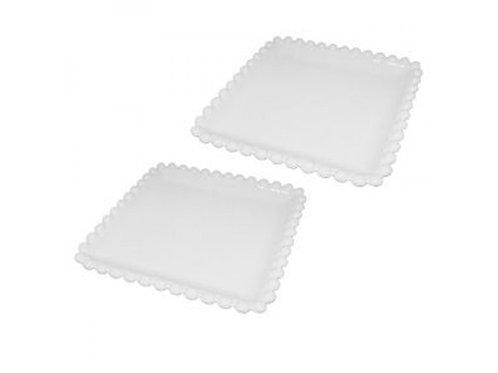 Prato de Porcelana Dots Branco - Tamanhos