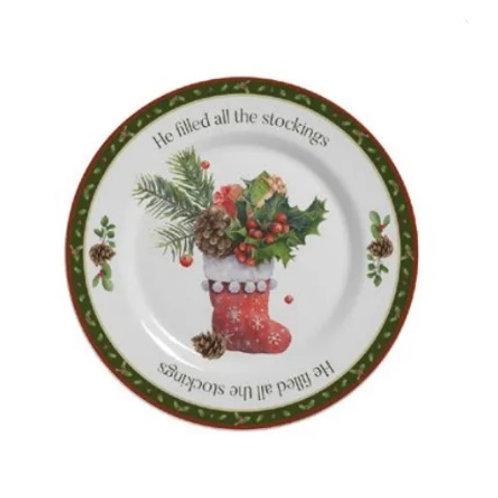 Prato Raso em Cerâmica Christmas 29cm - Alleanza