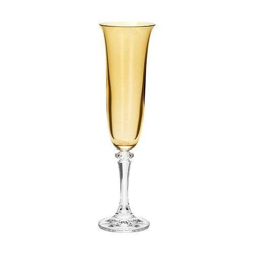 Taça de Cristal Ecológico para Champagne Kleopatra Âmbar 175ml-Bohemia