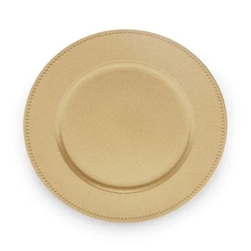 Sousplat de Plástico Dourado 33cm