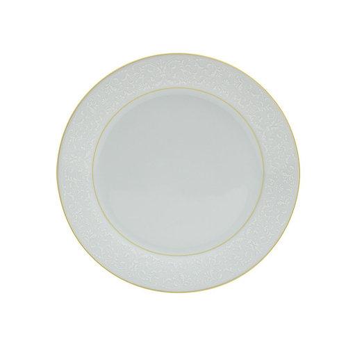 Prato Sobremesa de Porcelana c/ Fio Dourado Marrocos 19cm Wolff