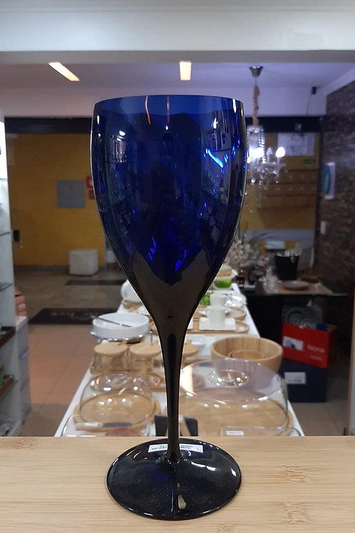 Taça em Cristal Água Rigado Azul Escuro 470ml - Oxford