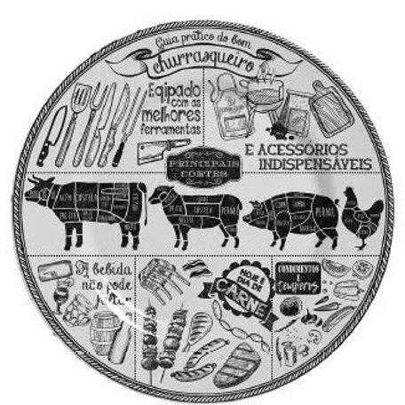 Prato Raso em Cerâmica Churrasco 29,5cm - Alleanza