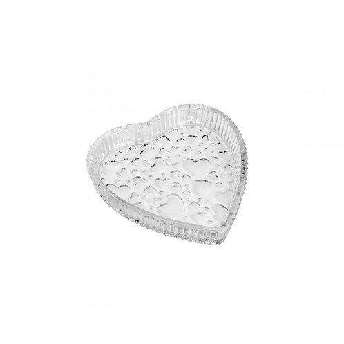 Prato/Petisqueira de Coração Cristal Cute 18,7x3,3cm alt.