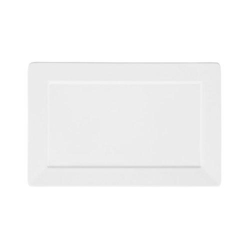Prato Sobremesa / Travessa Plateau Porcelana Branco 24x16cm Oxford