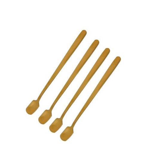 Conj. 4 Colheres para Café de Aço Inox Dourada 15CM - Mimo Style