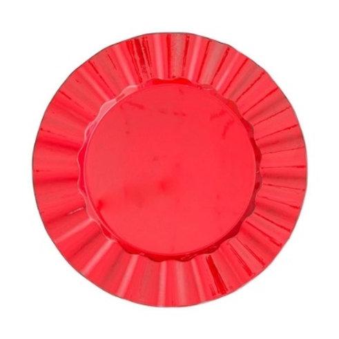 Sousplat de Plástico Cook Vermelho 33cm
