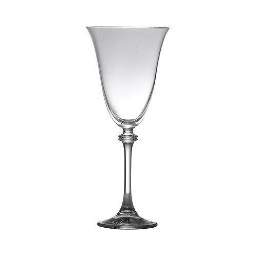 Taça de Cristal Bohemia para Água Alexandria Transparente 350ml