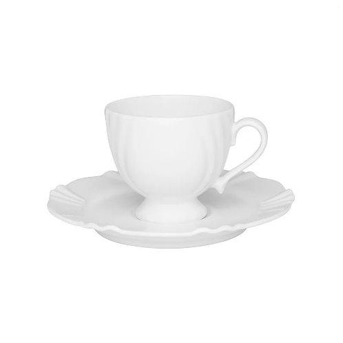Xícara de Chá de Porcelana Solei Branco 200ml - Oxford