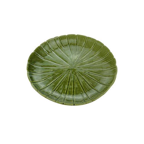 Prato Decorativo de Cerâmica Banana Leaf  19cm- Lyor