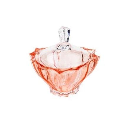 Potiche Decorativo Cristal de Paradise Coral 12x12cm - Wolff