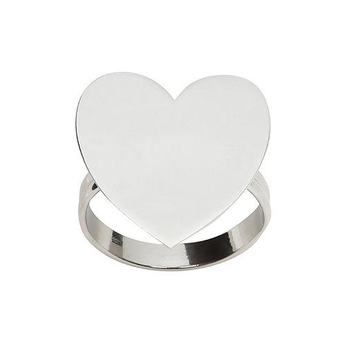 Anel p/ Guardanapo de Zamac Coração Heart