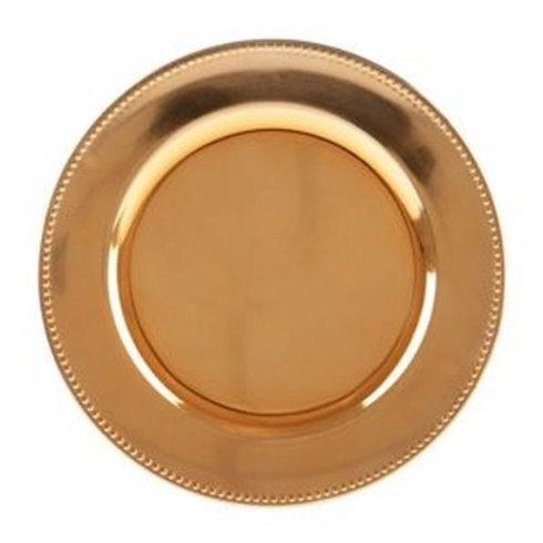 Sousplat de Plástico Rose Gold 33cm
