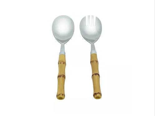 Conj. 2 Peças Garfo e Colher p/ Salada Bambu - Lyor