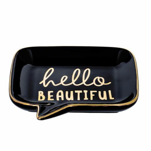 Mini Prato de Cerâmica Hello Beautiful 13x13cm - Mart