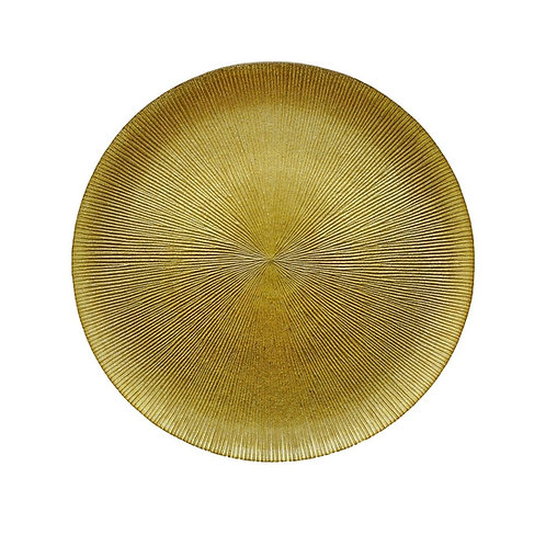 Sousplat de Cristal Dourado 33cm