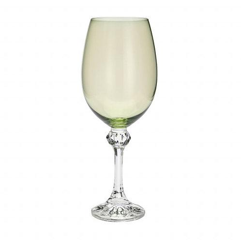 Taça de Cristal Ecológico p/ Vinho Elisa Kale 450ml - Bohemia