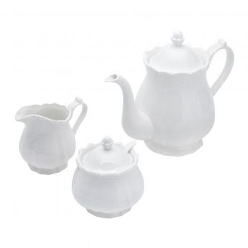Jogo 3 Peças De Porcelana Para Chá/Café Fancy Wolff