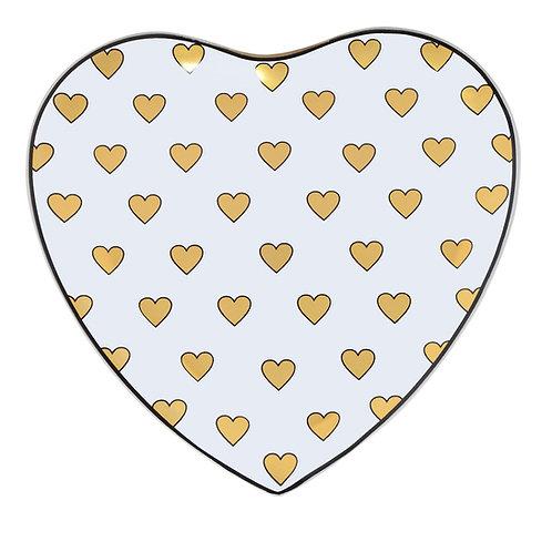 Prato Coração de Vidro 25cm