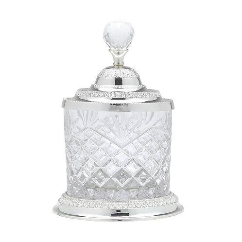 Pote Multiuso de Zamac Cristal Prata Tamanhos - Lyor