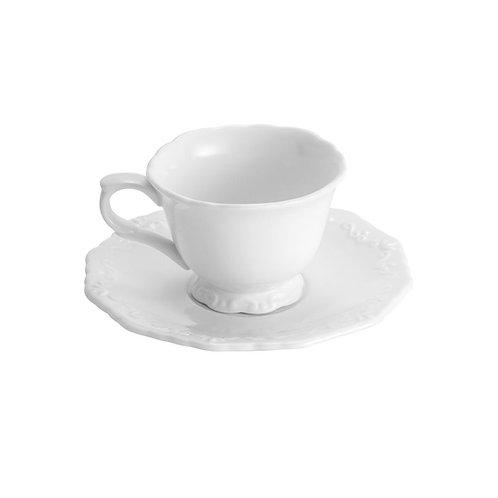 Xícara de Chá c/ Pires 200ml Alto Relevo - Wolff