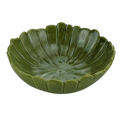 Bowl / Centro de Mesa Decorativo de Cerâmica Banana Leaf Tamanhos - Lyor
