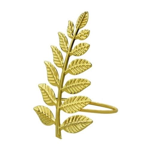 Anel p/ Guardanapo de Metal Flor Dourada