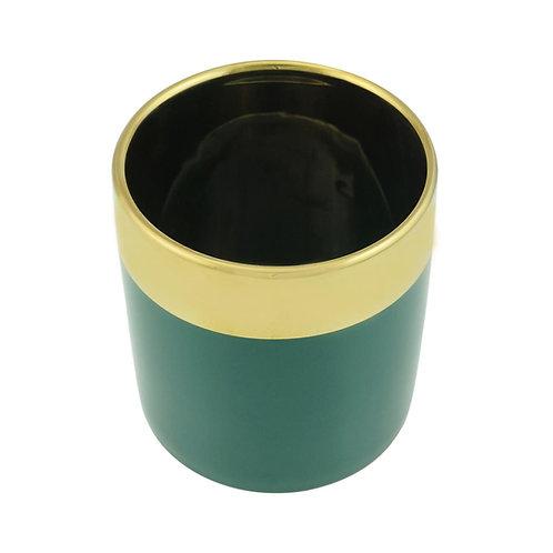 Vaso Decorativo Cerâmica Verde 11x12 cm