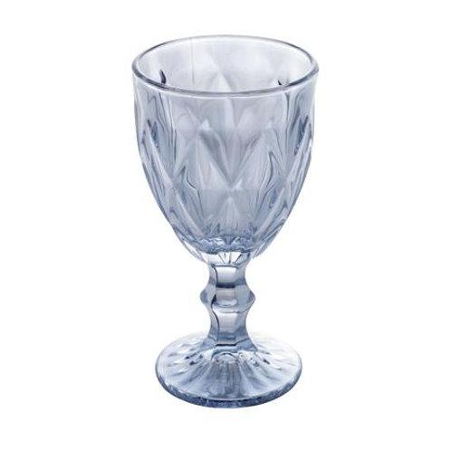 Taça Água Diamond Azul Metalizado 325ml - Lyor
