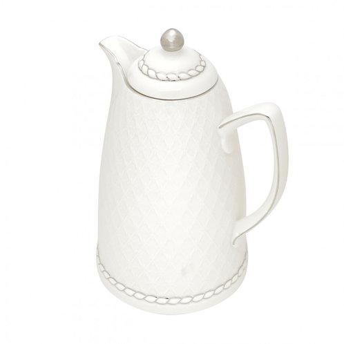 Garrafa Térmica de Porcelana Renda Branco 900ml Wolff