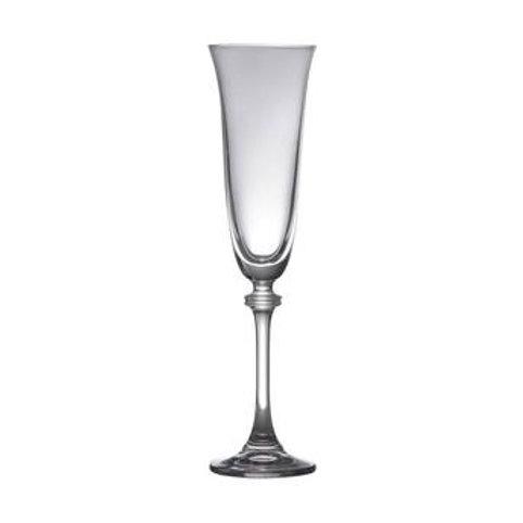 Taça de Cristal Bohemia para Champagne Alexandria Transparente 190ml