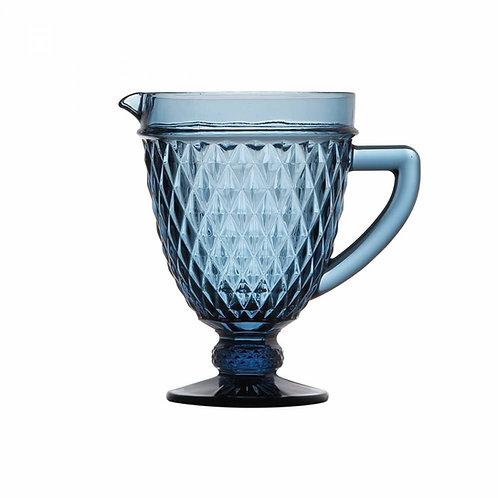 Jarra de Vidro Sodo-Calcico Bico de Abacaxi Azul 1L. - Lyor