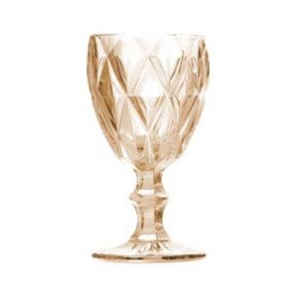 Taça Água Diamond Âmbar Metalizado 325ml - Lyor