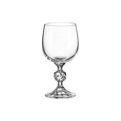 Taça de Cristal p/ Vinho Branco Klaudie Transparente 190ml - Bohemia