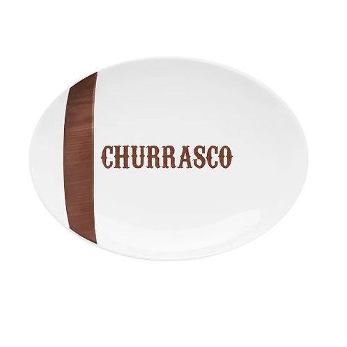Travessa de Porcelana Churrasco Tradição 35x24cm - Oxford