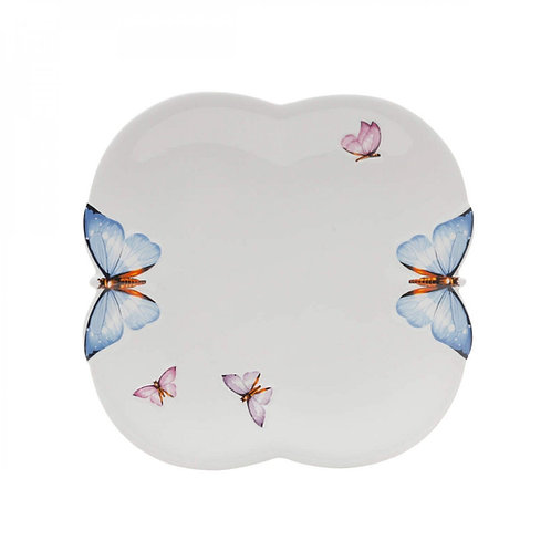 Prato Raso de Porcelana Borboletas 24cm - Wolff