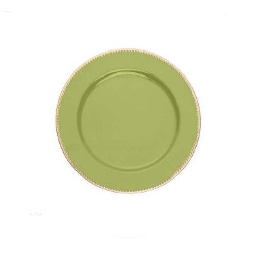 Sousplat de Plástico p/ Chá Verde 25cm