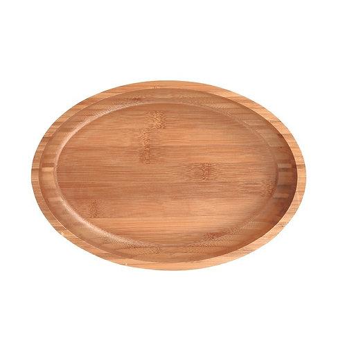 Bandeja Oval de Bambu 35x25x2cm
