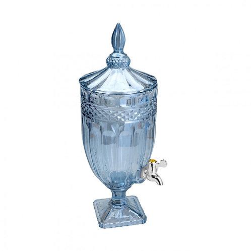 Dispenser em Cristal Brandon Azul 4 Litros -  Wolff