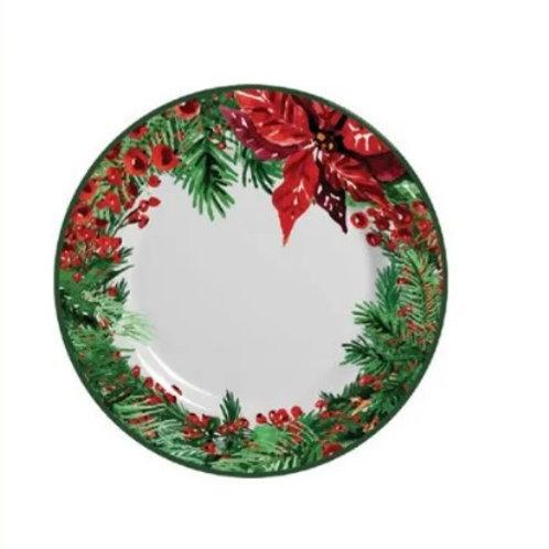 Prato Raso em Cerâmica Natal 29cm - Alleanza