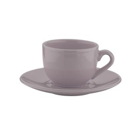 Xícara de Chá c/ Pires em Cerâmica Alanya Plum 275ml - Wolff